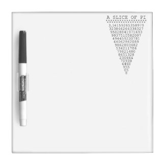 A Slice of Pi Digits Dry Erase Board