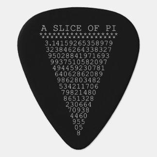 A Slice of Pi Digits Guitar Pick