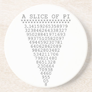 A Slice of Pi Graphic Drink Coaster