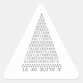 A Slice of Pi Graphic Triangle Sticker