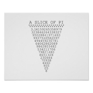 A Slice of Pi Numbers Poster