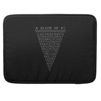 A Slice of Pi on solid black Sleeves For MacBook Pro