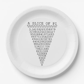 A Slice of Pi 9 Inch Paper Plate