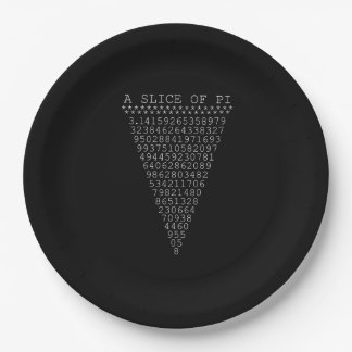 A Slice of Pi Triangle Paper Plate