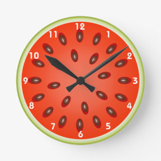 A Slice of Refreshing Watermelon Round Clock