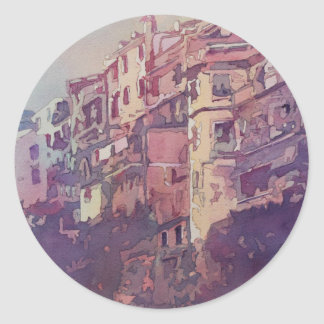 A Slice of Riomaggiore Classic Round Sticker