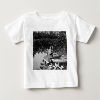 A Slight Nibble - Vintage 1906 Stereoview B&W Baby T-Shirt