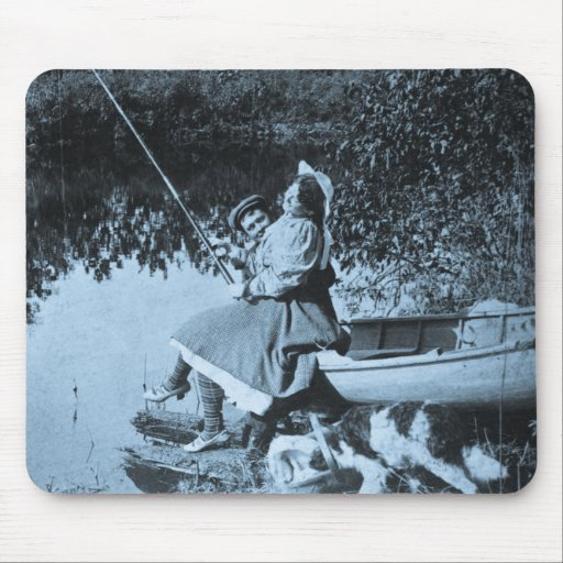 A Slight Nibble - Vintage 1906 Stereoview Mouse Pad