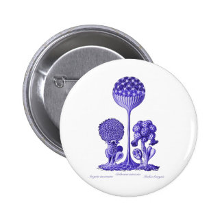 A Slime Mould 2 Inch Round Button