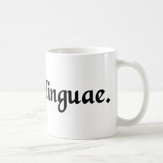 A slip of the tongue. classic white coffee mug