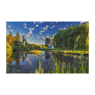 A slough of the Flathead River catches morning Canvas Print