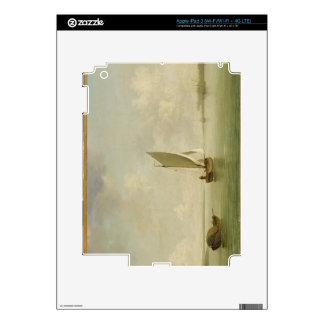 A Smack Under Sail in a Light Breeze in a River, c iPad 3 Skins