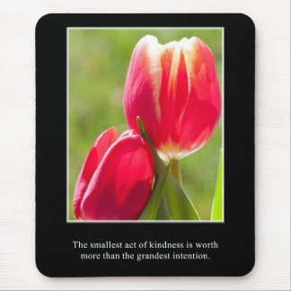 A small act of kindness is worth more than intent mouse pad