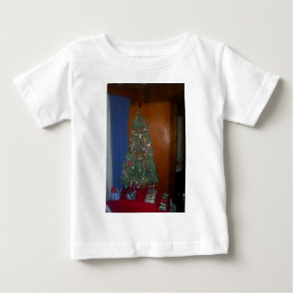 A Small Artificial Christmas Tree with Presents Baby T-Shirt
