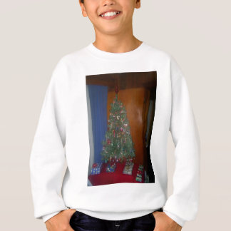 A Small Artificial Christmas Tree with Presents Sweatshirt