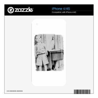 a small boy by the water tank skin for iPhone 4S