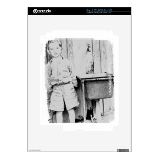 a small boy by the water tank decals for iPad 2