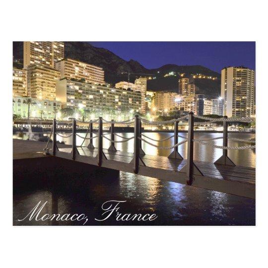 A small bridge in Monaco, France Postcard
