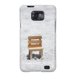 A small chair in the sandy beach samsung galaxy s2 case