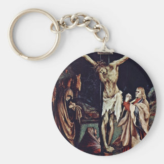 A Small Crucifixion: Christ On The Cross, Mary Mag Basic Round Button Keychain