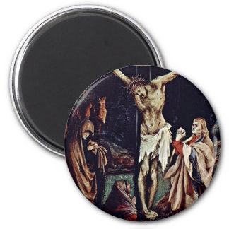 A Small Crucifixion: Christ On The Cross, Mary Mag Fridge Magnets