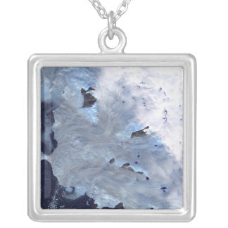 A small field of glaciers surrounds Baffin Bay Silver Plated Necklace