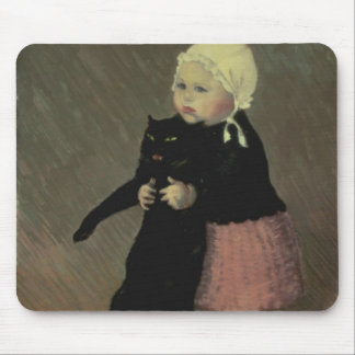 A Small Girl with a Cat, 1889 Mouse Pad
