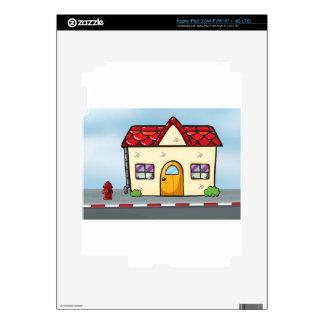A small house near the street iPad 3 skins
