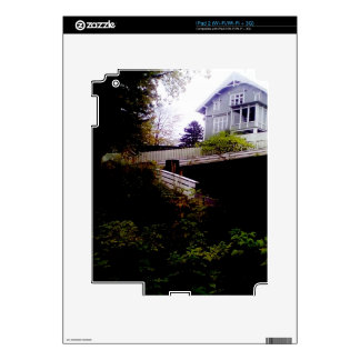 A small house on the hill decal for the iPad 2