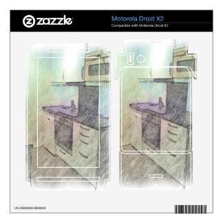 A small Kitchen Motorola Droid X2 Decals