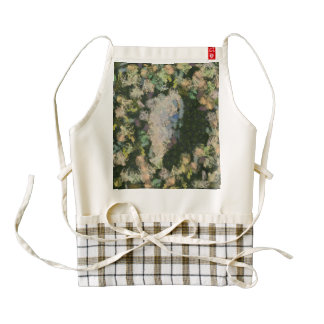 A small lake in the forest zazzle HEART apron