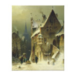 A Small Town in the Rhine Canvas Prints