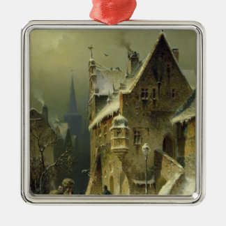 A Small Town in the Rhine Metal Ornament