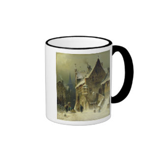 A Small Town in the Rhine Ringer Mug