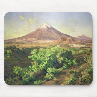 A Small Volcano in Mexican Countryside, 1887 (oil Mouse Pad