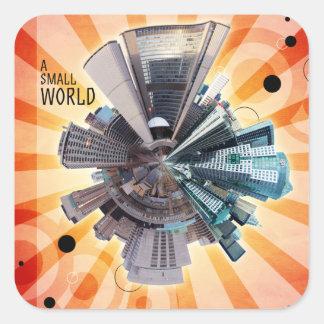 A Small World Square Sticker