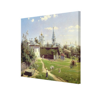 A Small Yard in Moscow, 1878 Canvas Print