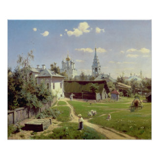 A Small Yard in Moscow, 1878 Print