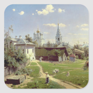 A Small Yard in Moscow, 1878 Square Sticker