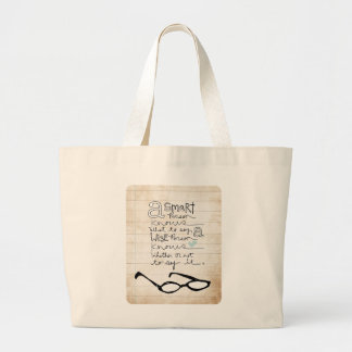 a smart person... canvas bags