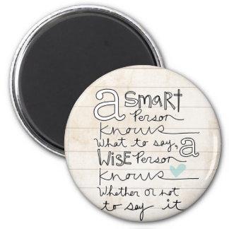 a smart person... magnet