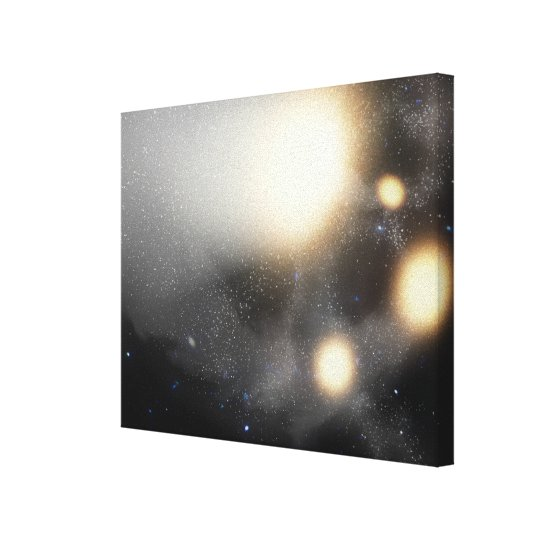 A smash-up of galaxies canvas print