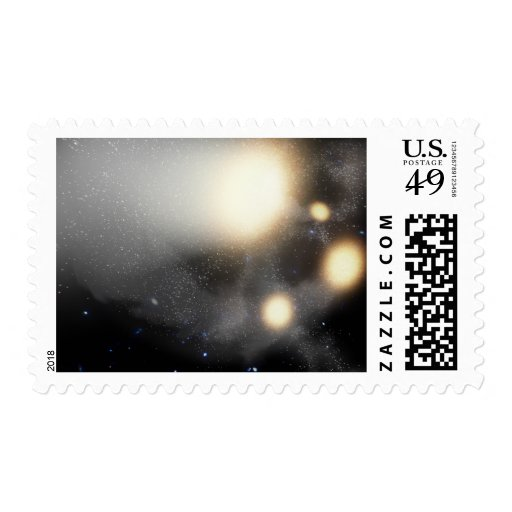 A smash-up of galaxies postage stamp