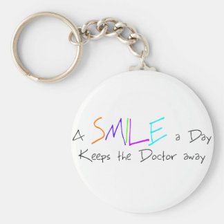 A Smile a Day Keeps the Doctor Away Basic Round Button Keychain