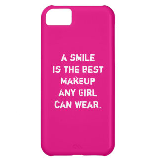 A smile is the best Makeup any girl can wear. Cover For iPhone 5C