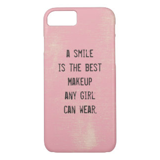 A smile is the best Makeup any girl can wear. iPhone 7 Case