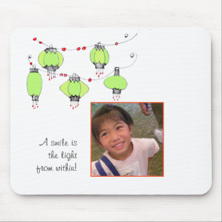 A smile is the light from within... mouse pad