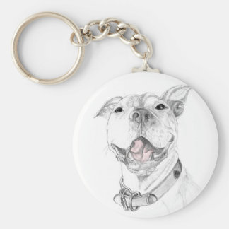 A Smile is Worth a Thousand Words A Pit Bull SmOri Basic Round Button Keychain