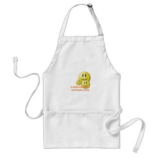A smile makes the  world goes round adult apron