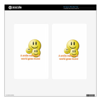 A smile makes the  world goes round decal for kindle fire